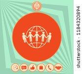 earth icon. communication... | Shutterstock .eps vector #1184320894