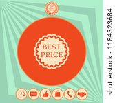 best price label icon | Shutterstock .eps vector #1184323684