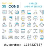 set of line icons  sign and... | Shutterstock . vector #1184327857