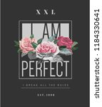 typography slogan with rose... | Shutterstock .eps vector #1184330641
