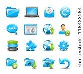 computer icon set 1 | Shutterstock .eps vector #118433584