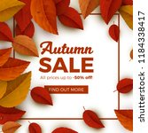 autumn sale vector banner... | Shutterstock .eps vector #1184338417