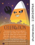 halloween background poster  ... | Shutterstock .eps vector #1184340964