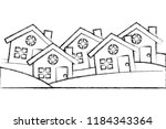set of residence houses... | Shutterstock .eps vector #1184343364