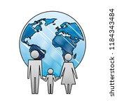 family unity holding hands... | Shutterstock .eps vector #1184343484