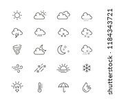 weather related icons  thin... | Shutterstock .eps vector #1184343721