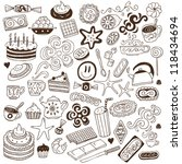 Coffee And Sweets   Doodles...
