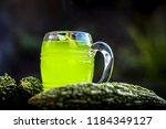 organic bitter gourd  or bitter ... | Shutterstock . vector #1184349127