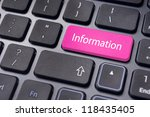 information message on enter key of keyboard, for conceptual usage. - stock photo