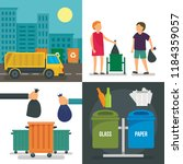 separation recycle bin banner... | Shutterstock . vector #1184359057