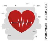 heart cardio medical icon | Shutterstock .eps vector #1184359411