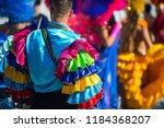 abstract view of samba dancers... | Shutterstock . vector #1184368207