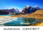 scenic gurudongmar lake at... | Shutterstock . vector #1184378077