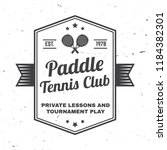 paddle tennis club badge ... | Shutterstock .eps vector #1184382301