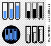 test tubes eps vector...   Shutterstock .eps vector #1184386111