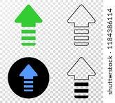 update arrow eps vector...   Shutterstock .eps vector #1184386114