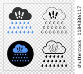 strong rain clouds eps vector...   Shutterstock .eps vector #1184386117