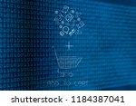 add to cart conceptual... | Shutterstock . vector #1184387041