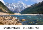 scenic yumthang valley with... | Shutterstock . vector #1184388751