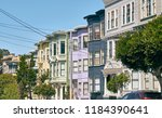 victorian style homes in haight ... | Shutterstock . vector #1184390641