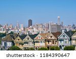 the painted ladies   victorian... | Shutterstock . vector #1184390647