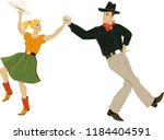 a couple dressed in traditional ... | Shutterstock .eps vector #1184404591