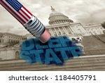 united states deep state and... | Shutterstock . vector #1184405791