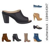 vector illustration of footwear ... | Shutterstock .eps vector #1184414347