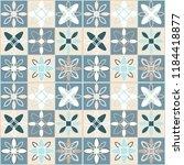 seamless ceramic tile. gorgeous ... | Shutterstock .eps vector #1184418877