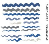 wave brush strokes vector set... | Shutterstock .eps vector #1184423047