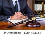 judge gavel with justice... | Shutterstock . vector #1184423167