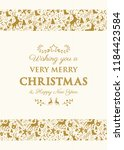 decorative christmas card with... | Shutterstock .eps vector #1184423584