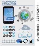 vector set with infographics... | Shutterstock .eps vector #118442644