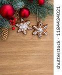 christmas tree with christmas... | Shutterstock . vector #1184434021