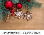 christmas tree with christmas... | Shutterstock . vector #1184434024