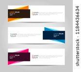 banner background design.... | Shutterstock .eps vector #1184436634