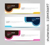 banner background design.... | Shutterstock .eps vector #1184436697