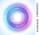 geometric frame from circles ... | Shutterstock .eps vector #1184440207