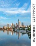 skyline of frankfurt am main... | Shutterstock . vector #1184444077