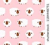 baby sheep girlish cute... | Shutterstock .eps vector #1184448751