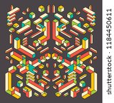 isometric abstraction in color. ... | Shutterstock .eps vector #1184450611