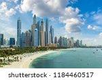 dubai marina in a summer day ... | Shutterstock . vector #1184460517