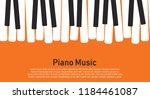 grunge black and white piano... | Shutterstock .eps vector #1184461087