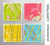 creative artistic backgrounds...   Shutterstock .eps vector #1184479681