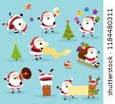 cute santa collection | Shutterstock .eps vector #1184480311