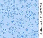christmas seamless doodle... | Shutterstock .eps vector #1184494234
