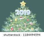 christmas design with... | Shutterstock .eps vector #1184494594