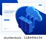 isometric modern cloud... | Shutterstock .eps vector #1184496154