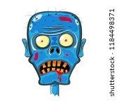 head of a zombie. halloween... | Shutterstock .eps vector #1184498371