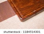 solid wood ebony tea tray set | Shutterstock . vector #1184514301